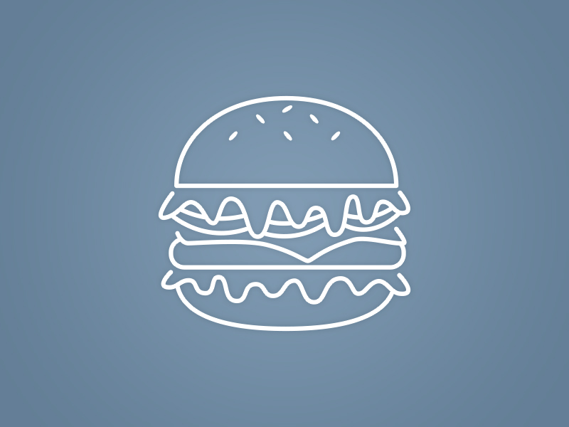 UI Icon Design - Burger - Retail