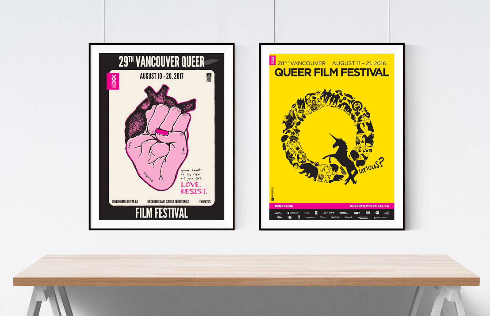 Vancouver Queer Film Festival Posters