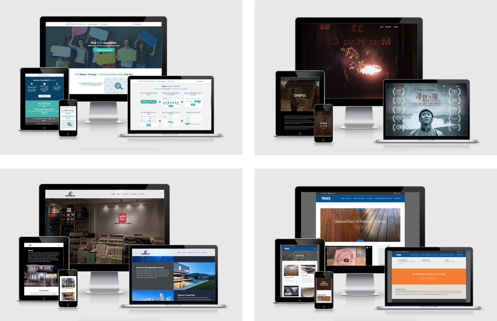 Various Website Design Projects